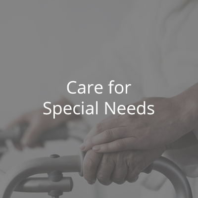 Our team is trained to  provide comprehensive case management and support for people with disabilities and special needs.